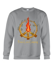 PEACE LOVE CAMPING Crewneck Sweatshirt thumbnail