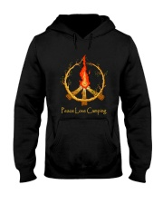 PEACE LOVE CAMPING Hooded Sweatshirt thumbnail
