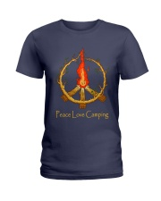 PEACE LOVE CAMPING Ladies T-Shirt thumbnail