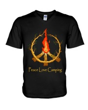 PEACE LOVE CAMPING V-Neck T-Shirt thumbnail