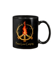 PEACE LOVE CAMPING Mug tile