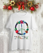 IMAGINE FLOWER Classic T-Shirt lifestyle-holiday-crewneck-front-2