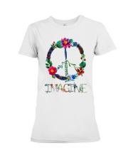 IMAGINE FLOWER Premium Fit Ladies Tee thumbnail