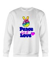 PEACE AND LOVE Crewneck Sweatshirt thumbnail