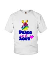 PEACE AND LOVE Youth T-Shirt thumbnail