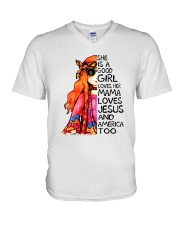 She Is A Good Girl V-Neck T-Shirt thumbnail