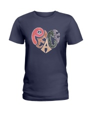 PEACE HEART Ladies T-Shirt thumbnail