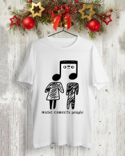 MUSIC COMECTS PEOPLE Classic T-Shirt lifestyle-holiday-crewneck-front-2