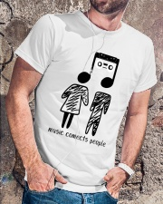 MUSIC COMECTS PEOPLE Classic T-Shirt lifestyle-mens-crewneck-front-4