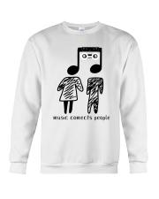 MUSIC COMECTS PEOPLE Crewneck Sweatshirt thumbnail