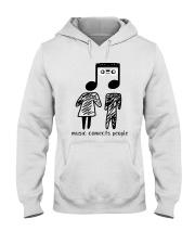 MUSIC COMECTS PEOPLE Hooded Sweatshirt thumbnail