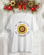 What a wonderful world Classic T-Shirt lifestyle-holiday-crewneck-front-2