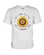 What a wonderful world V-Neck T-Shirt thumbnail