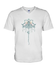 Yoga Mandala V-Neck T-Shirt tile