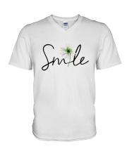 SMILE FLOWER V-Neck T-Shirt thumbnail