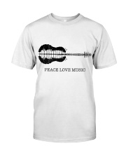 PEACE LOVE MUSIC Classic T-Shirt front