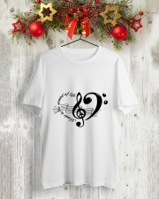 Music is the sould of life Classic T-Shirt lifestyle-holiday-crewneck-front-2
