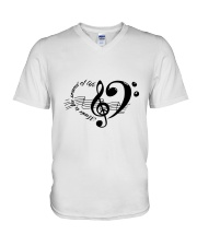 Music is the sould of life V-Neck T-Shirt thumbnail