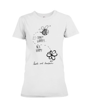 DON'T WORRRY BE HAPPY Premium Fit Ladies Tee thumbnail