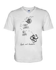 DON'T WORRRY BE HAPPY V-Neck T-Shirt thumbnail