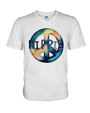 HIPPIE SIGN V-Neck T-Shirt thumbnail