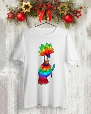 Lotus Flower TIe Dye Classic T-Shirt lifestyle-holiday-crewneck-front-2