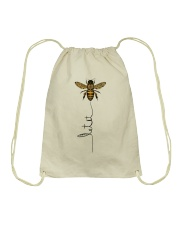 Let  it bee Drawstring Bag thumbnail