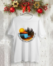 Mountains Are Calling Classic T-Shirt lifestyle-holiday-crewneck-front-2