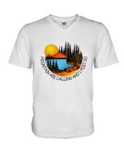 Mountains Are Calling V-Neck T-Shirt thumbnail