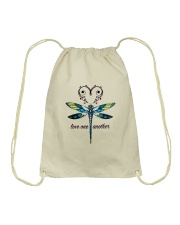 LOVE ONE ANOTHER Drawstring Bag thumbnail