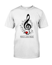 Peace Love Music Premium Fit Mens Tee front