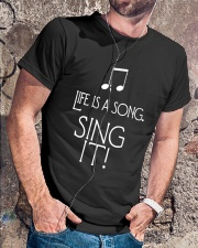 LIFE IS A SONG SING IT Classic T-Shirt lifestyle-mens-crewneck-front-4