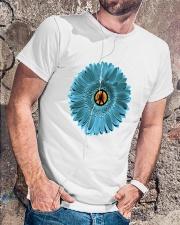 Peace Flower Classic T-Shirt lifestyle-mens-crewneck-front-4