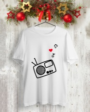 RADIO LOVE Classic T-Shirt lifestyle-holiday-crewneck-front-2