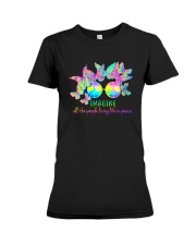 ALL THE PEOPLE LIVING LIFE IN PEACE Premium Fit Ladies Tee thumbnail