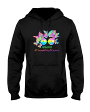 ALL THE PEOPLE LIVING LIFE IN PEACE Hooded Sweatshirt thumbnail
