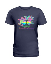 ALL THE PEOPLE LIVING LIFE IN PEACE Ladies T-Shirt thumbnail