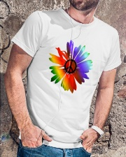 PEACE FLOWER Classic T-Shirt lifestyle-mens-crewneck-front-4