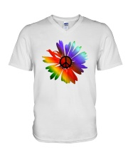 PEACE FLOWER V-Neck T-Shirt thumbnail