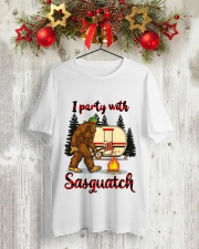 I Party With Sasquatch Classic T-Shirt lifestyle-holiday-crewneck-front-2
