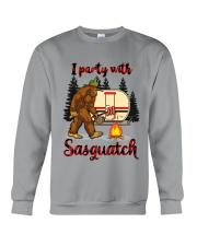 I Party With Sasquatch Crewneck Sweatshirt thumbnail