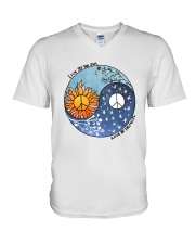 LOVE BY THE MOON V-Neck T-Shirt thumbnail