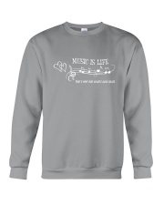 MUSIC IS LIFE THAT'S WHY OUR HEARTS HAVE BEATS Crewneck Sweatshirt thumbnail