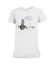 0712 And I Think To Myself Bird Guitar Premium Fit Ladies Tee thumbnail