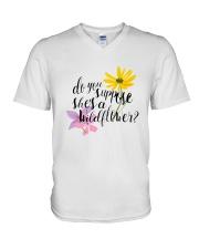 DO YOU SHE'S A WILDFLOWER V-Neck T-Shirt thumbnail