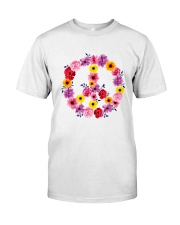 PEACE SIGN FLOWER Classic T-Shirt front
