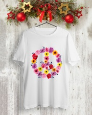 PEACE SIGN FLOWER Classic T-Shirt lifestyle-holiday-crewneck-front-2