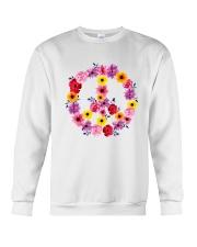 PEACE SIGN FLOWER Crewneck Sweatshirt thumbnail
