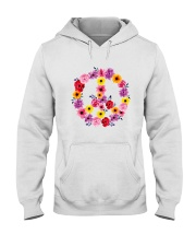 PEACE SIGN FLOWER Hooded Sweatshirt thumbnail