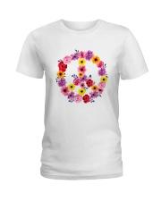 PEACE SIGN FLOWER Ladies T-Shirt thumbnail